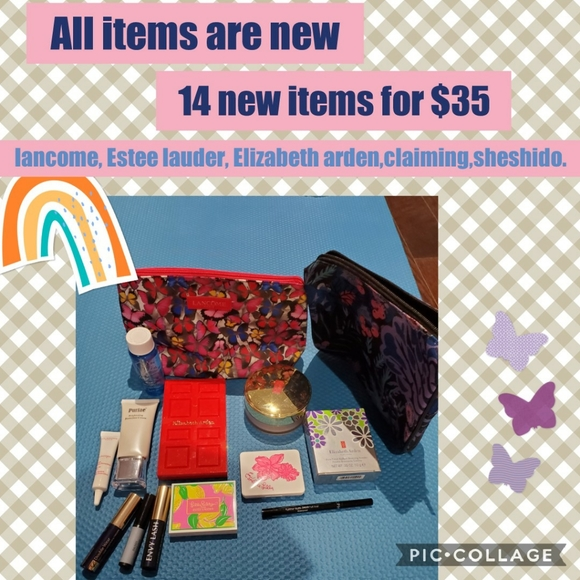 All for $35. All items new- Makeup and bags